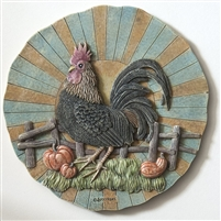 Spoontiques Rooster Stepping Stone / Wall Plaque, 5087