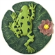 Spoontiques Frog on Lily Pad Stepping Stone / Wall Plaque, 5090