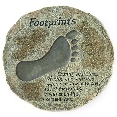 Spoontiques Footprints Stepping Stone / Wall Plaque, 5099