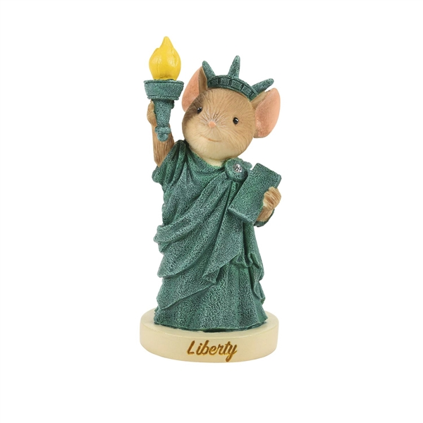 Statue of Liberty Mouse Tails with Heart Figurine, 6008090