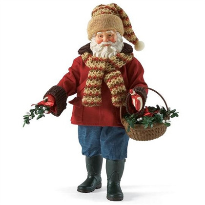 Santa with Basket of Mistletoe - Possible Dreams Figurine, 4022048